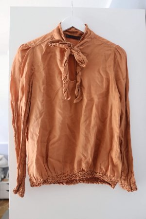 40 Grad Blusa brillante arancione scuro-ruggine