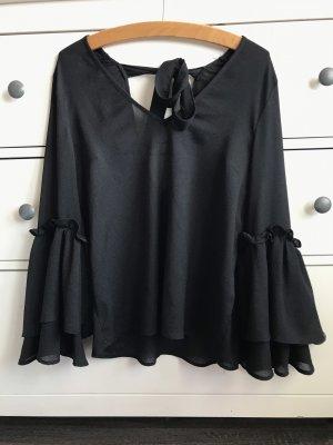 Bluse in schwarz mit 3/4 Ärmel