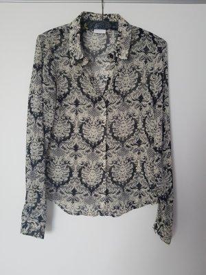 Bluse in schwarz-weiß