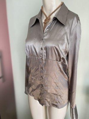 Zabaione Blusa brillante color plata