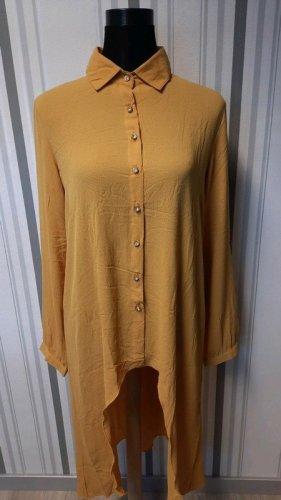 Lange blouse goud Oranje Polyester