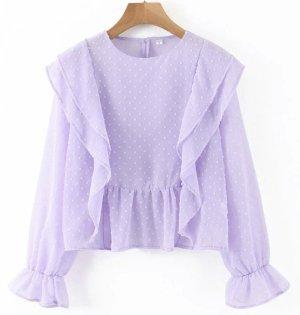 Shine Bodysuit Blouse violet-grey violet mixture fibre