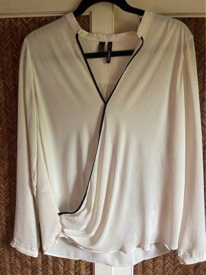 Mango Bluzka z długim rękawem biały-czarny