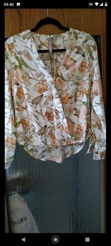 Bluse in Wickeloptik, Retro Design