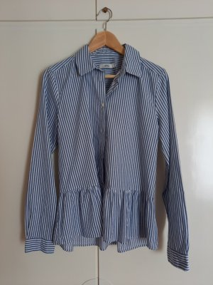 0039 Italy Blusa de manga larga blanco-azul aciano