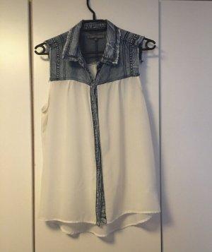 Bluse Jeans-Optik