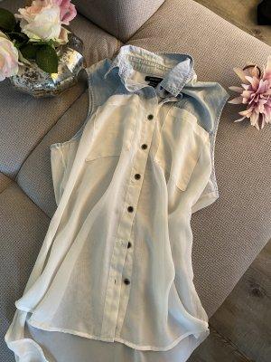 Bluse Jeans Transparent
