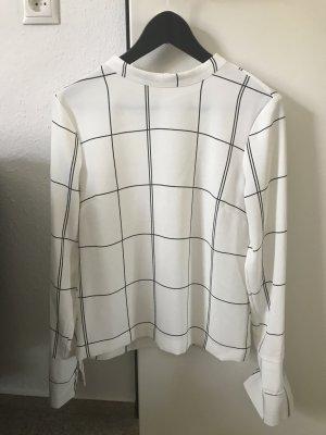 Bluse kariert Gr. 36 schwarz/weiß