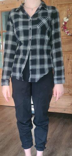 H&M Blouse à carreaux blanc-noir