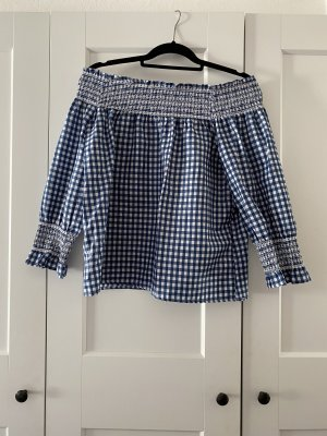 Boohoo Checked Blouse blue-white