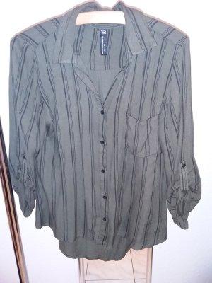 Bluse khaki gestreift