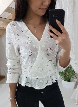 Blusa cruzada blanco