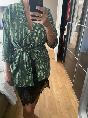 Bluse Kimono Blazer M 38 grün Kaffe