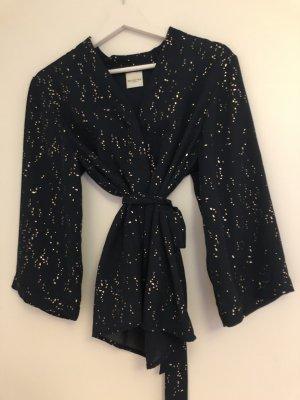 Selected Femme Kimono Blouse dark blue-rose-gold-coloured