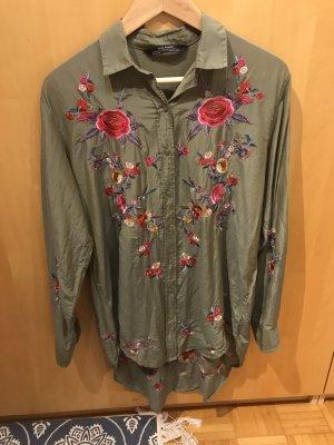 Bluse / Kleid in Gr.36/S von Zara in Khaki.