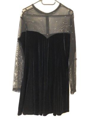 Bluse Kleid samt mit Strass Gr. 46