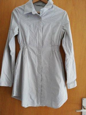 C&A Clockhouse Sukienka koszulowa biały-stalowy niebieski