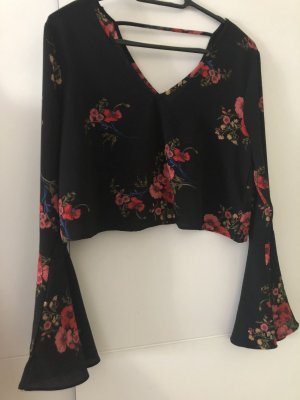 CAMEO ROSE Slip-over blouse rood-zwart