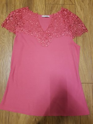 Orsay Blusa in merletto rosa
