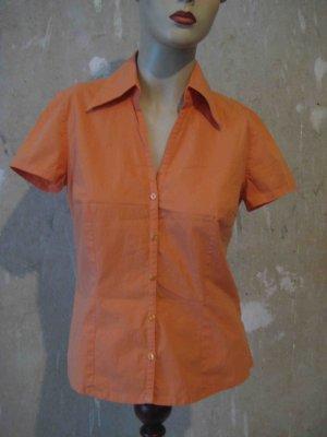 Bluse Kurzarm, orange, von More&More - casual Look