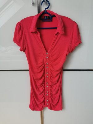 Bluse Kurzarm Shirt Gr. S Pink