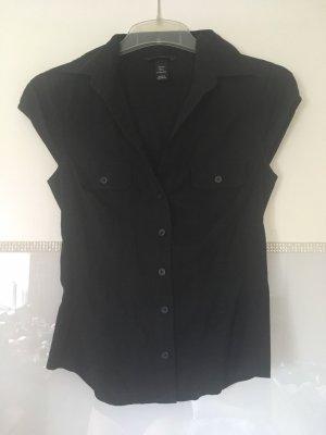 Bluse Kurzarm von H&M in schwarz Größe 34
