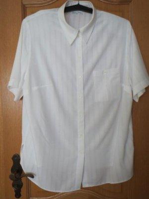 Bluse, Kurzarm, weiß, Gr.50/XL