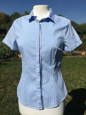 Bluse, Kurzarmbluse, hellblau Gr. 36, H&M, Nagelneu