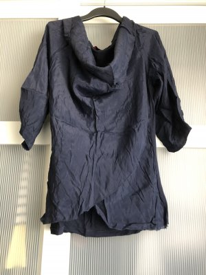 Amelie & Amelie Silk Blouse dark blue-blue silk