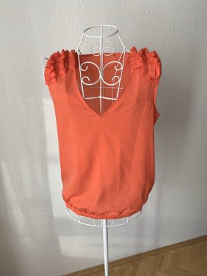 Zara Mouwloze blouse zalm