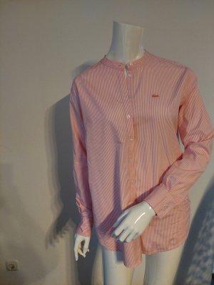 Lacoste Blusa de manga larga blanco-rosa