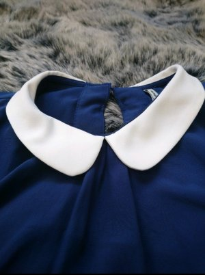 Bluse lang blau