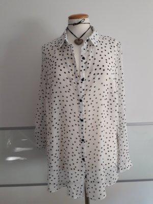 Bluse lang, polka dots