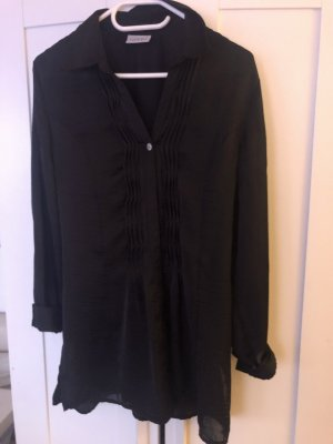 Bluse lang schwarz
