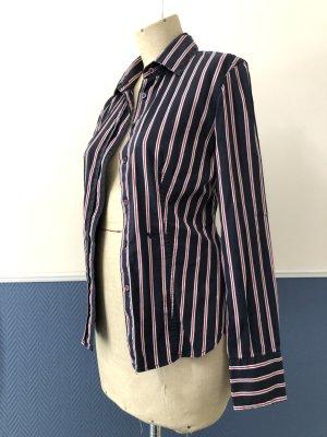 Bluse, langarm, blau rot weiss gestreift von Murphy&Nye Größe S