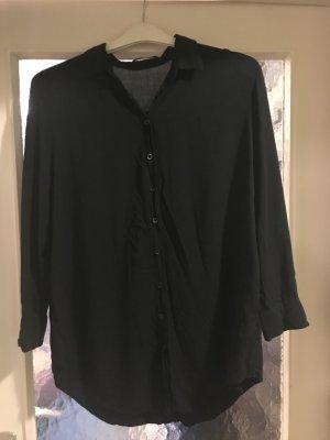 Bluse Langarm schwarz mit 2 Eingrifftaschen Grösse XXL Viskose – selten getragen