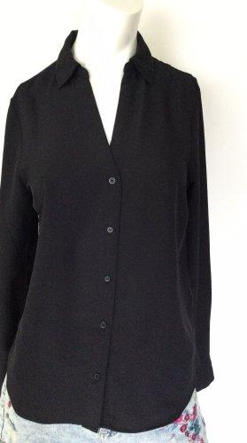 Bluse Langarm von H&M schwarz, Gr 36