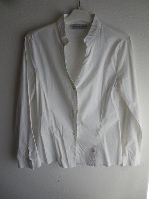 Rinascimento Camicetta a maniche lunghe bianco Cotone