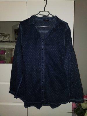 Laura Torelli Slip-over blouse staalblauw