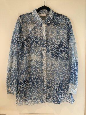 Bluse leicht transparent mit Blumenmuster