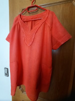 no name Blusa in lino arancio neon