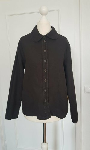 Linen Blouse black linen