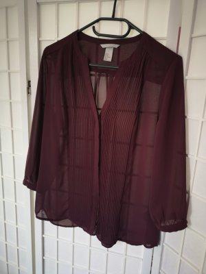 Bluse, lila, Größe 38, H&M