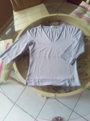 Bluse lila, passend zu Seidenhose + Rock