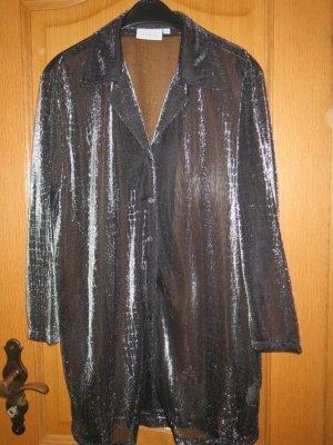 Barisal Transparante blouse zwart-zilver