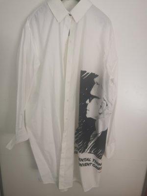 Karl Lagerfeld Vestido tipo blusón blanco-negro