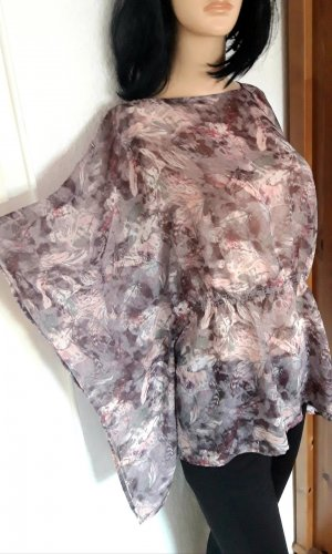 Bluse M L 38 Tunika Blumen Muster print