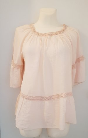 Made in Italy Blusa ancha rosa