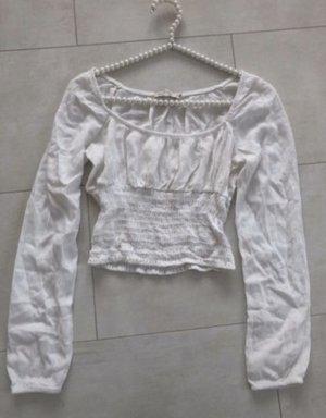 0039 Italy Bluzka z falbankami biały