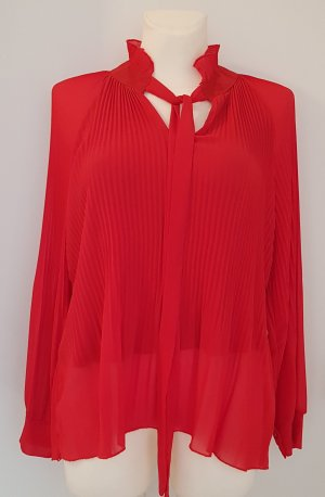 Made in Italy Tie-neck Blouse red